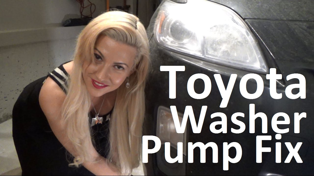 How To Repair Replace Windshield Washer Pump Hose Toyota Prius Youtube 92 Tercel Engine Diagram Toyotaprius Washerpump Howtofixtoyota