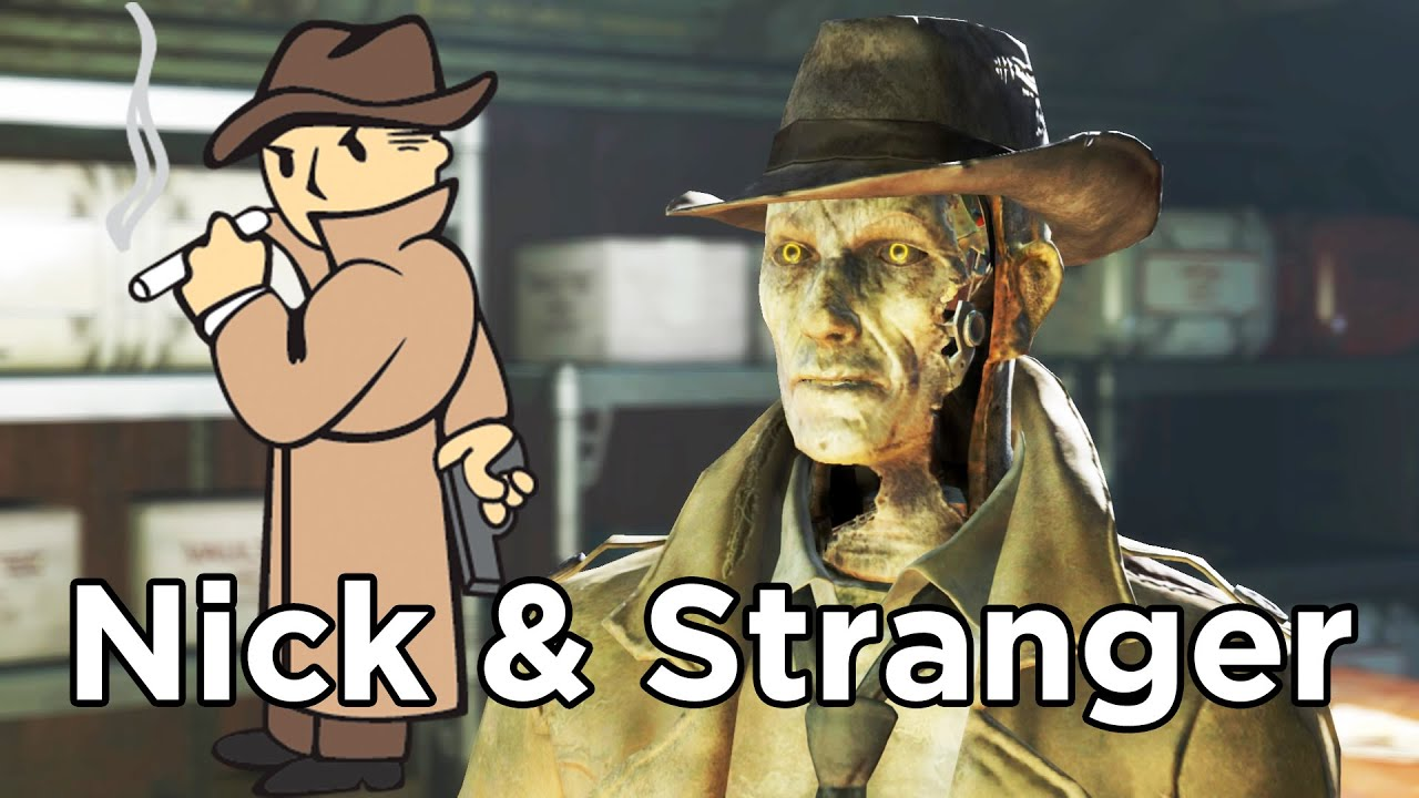 Fallout 4 Nick Valentine Reacts To Mysterious Stranger