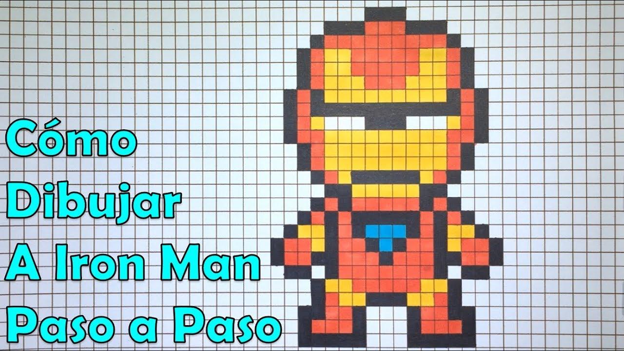 Cómo Dibujar A Iron Man En 8 Bit O Pixel Art Tutorial Paso A Paso