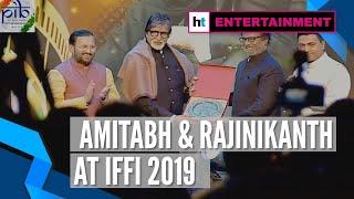 IFFI 2019 | Amitabh Bachchan honoured by Rajinikanth with special award