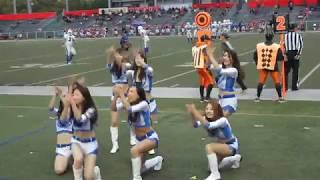 HawkEye Cheer Jaguars 2016/11/26 サイドワインダーズ戦 Xリーグ 入れ...