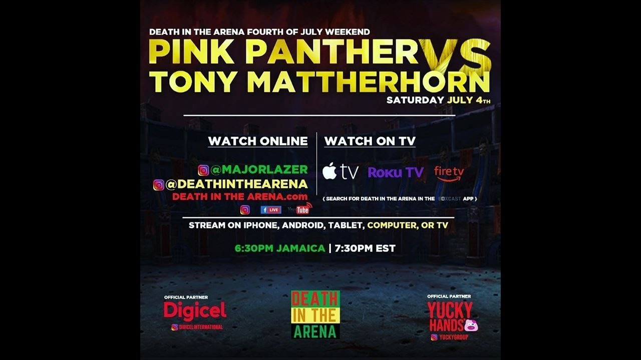 Death in the Arena - Tony Matterhorn Vs Pink Panther
