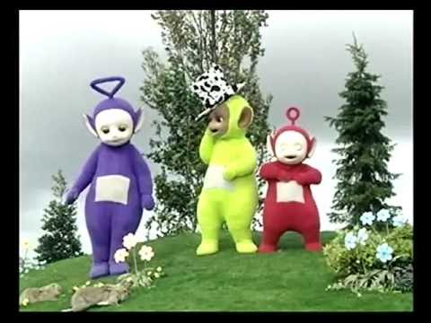 Teletūbiji latviski - Here come the Teletubbies latvian