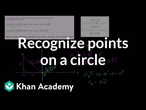 Recognizing points on a circle | Analytic geometry | Geometry | Khan Academy