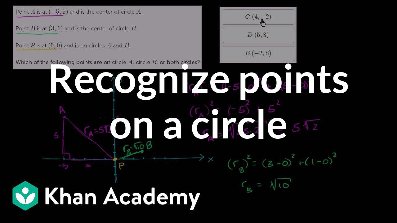 Challenge problem: Points on two circles (video) | Khan Academy