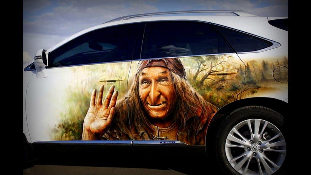 Открытки, прикольные рисунки на авто