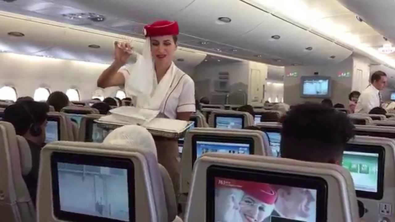 Emirates A380 Economy Lax Dubai Youtube