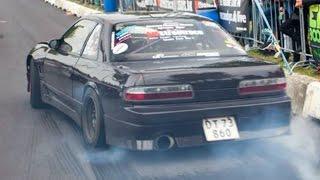 Nissan 200sx PS13 Drift Car vs Honda CRX VT K20 - Drag race 2016 Striben-Randers