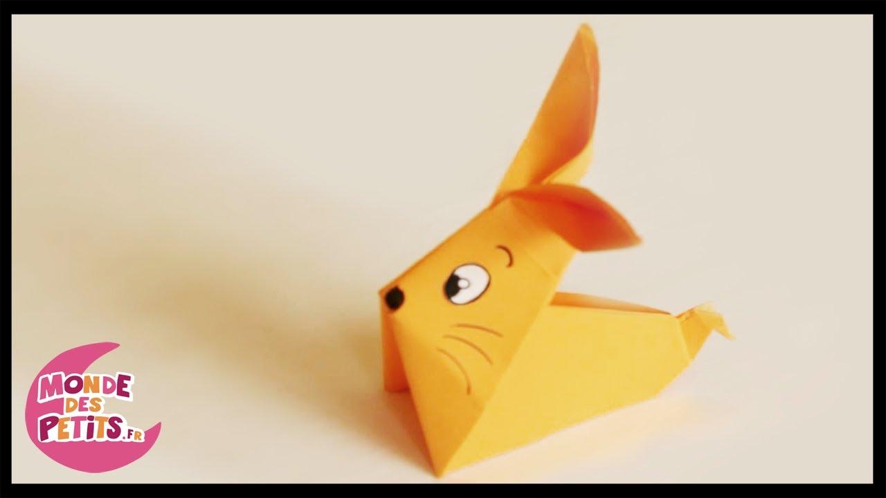 origami le lapin en papier pli youtube. Black Bedroom Furniture Sets. Home Design Ideas