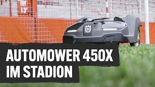 Rasenmähroboter Automower 450x im Stadion erklärt | Profi TV