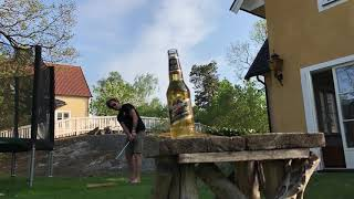 How a golfer opens a beer