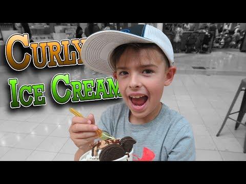 TRYING NEW CURLY ICE CREAM | ERIKTV365