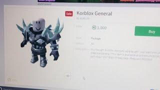 Roblox: Korblox General Is On Sale