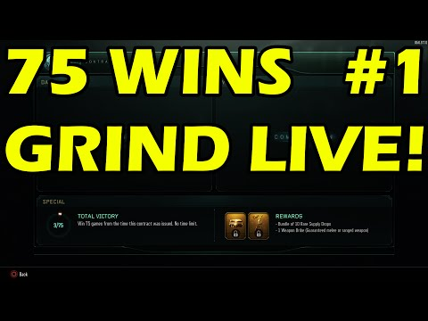 BO3 Multiplayer Grinding For 75 Wins! Trying To Get The Weapon Bribe Supply Drop! (BO3 LIVE)