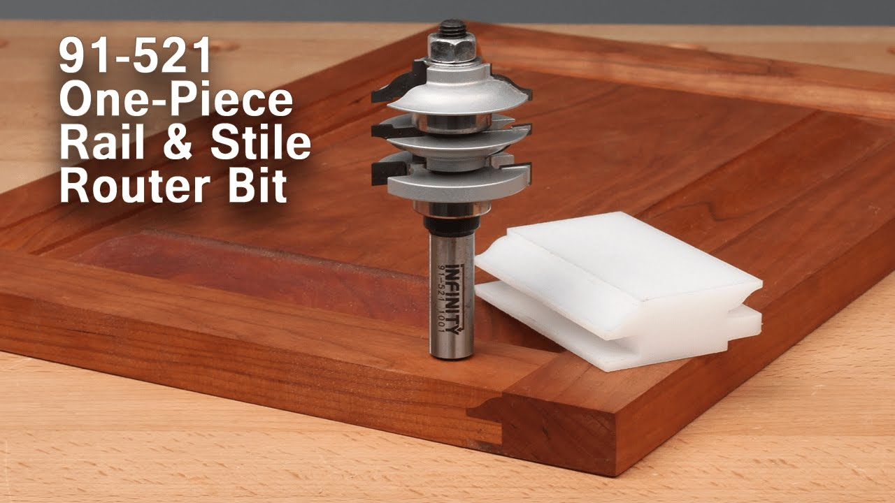 Easy Cabinet Doors With The One Piece Rail And Stile Router Bit 91 521