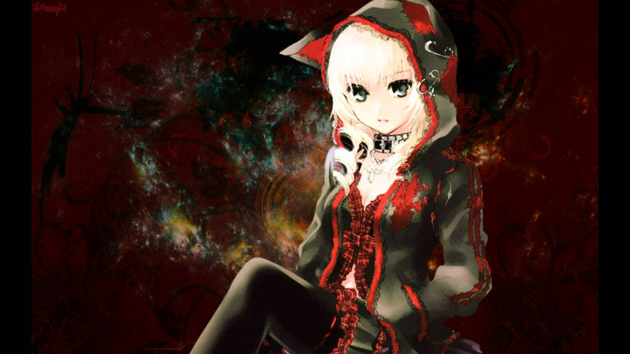 Anime Girl With Cat Ears Wallpaper Red And Black Nightcore Three Days Grace Time Of Dying Youtube
