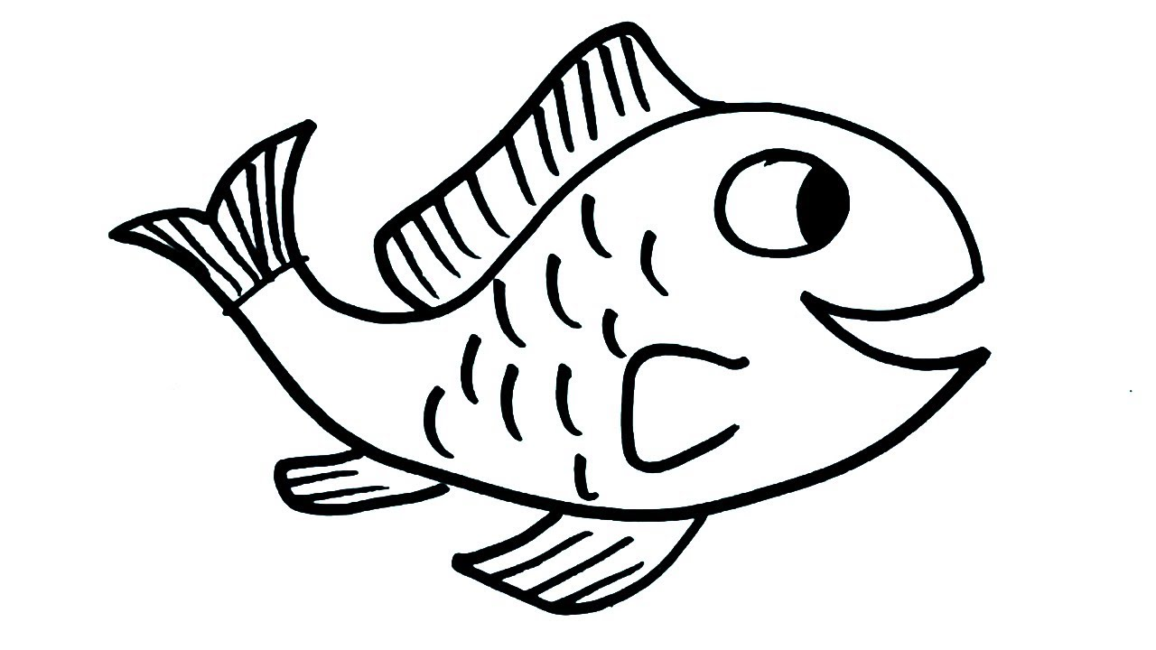 How to draw fish drawing for kids easy fish art step by step