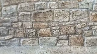 BEST MODEL MAKING TIPS: HOW TO MAKE A STONE BRICK WALL