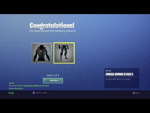 Fortnite Reaching Tier 100 And Reaching Level 80 (Max Omega)