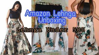 Amazon Lehenga Unboxing | Semi Stitched lehenga At Only 429/- RS | Amazon India