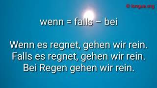 B1, B2, C1, DSH - Umformung Präpositionen und Konjunktionen - Deutsch lernen - Learn German