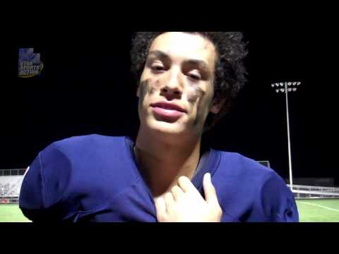 Prep football: Simi Fehoko's (Brighton Bengals) post-game interview after the West Jordan game.