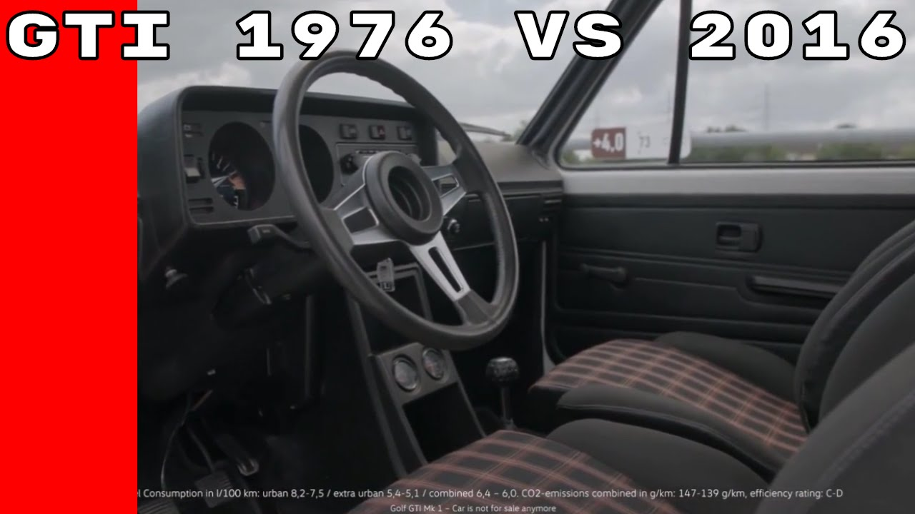 Volkswagen Golf Gti Interior 1976 Vs 2016
