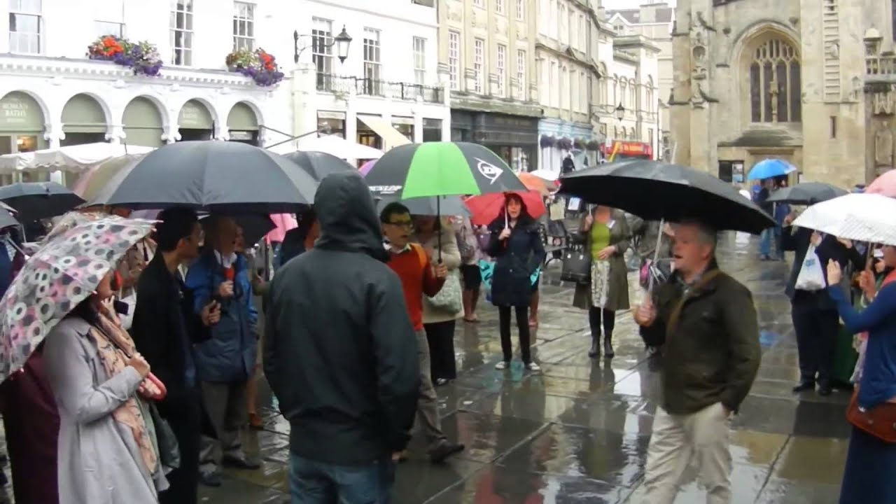 Jehovah Witnesses  - 3 Flash Mob in Bath UK