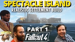 PLEASURE ISLAND AT SPECTACLE ISLAND - PART 1 |  Realistic Fallout 4 settlement!