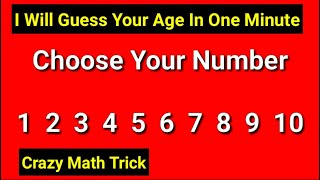 your age in one minute