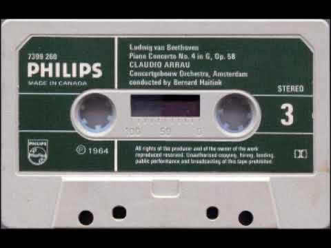 Piano Concertos performed by Claudio Arrau - Ludwig Beethoven (1964) Phillips Cassette