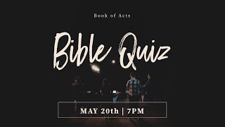 SMBS Bible Quiz - B๐ok of Acts - SMBS 2020