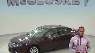 A98635PT Used 2011 Ford Fusion SEL FWD 4D Sedan Maroon Test Drive, Review, For Sale -