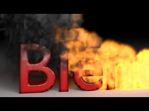 Blender Tutorial: Fire Smoke Text Animation