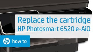 Replacing a Cartridge - HP Photosmart 6520 e-All-in-One Printer(Don't know which cartridge you need? Visit http://www.suresupply.com. Learn how to replace a cartridge in the HP Photosmart 6520 e-All-in-One Printer., 2013-06-21T16:03:48.000Z)