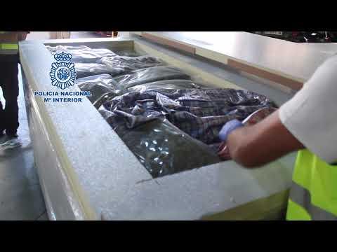 """""""La Policía Nacional intercepta un camión con 1.000 kilos de hachís y 225 de marihuana"""