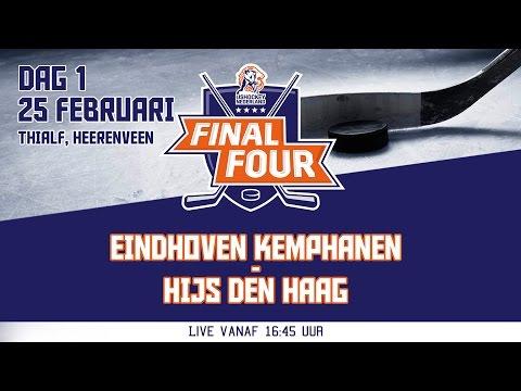 Livestream Final Four Dag 1 Eindhoven Kemphanen - HIJS Den Haag 25 januari 2017