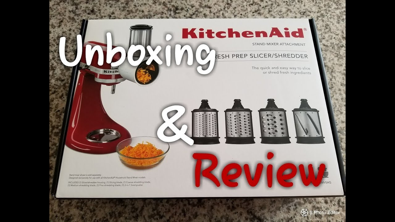 Unboxing and REVIEW!!! KitchenAid Fresh Prep Slicer/Shredder Attachment  Does it Work? (045)