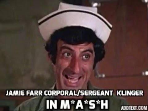 Jamie Farr Corporal Sergeant Maxwell Q  Klinger mash