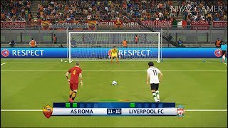 AS ROMA vs LIVERPOOL FC | UEFA Champions League [UCL] | Penalty Shootout | PES 2018 Gameplay PC