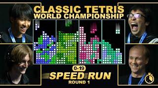 First to 19 Speedrun Round 1 - TETRIS RACE!