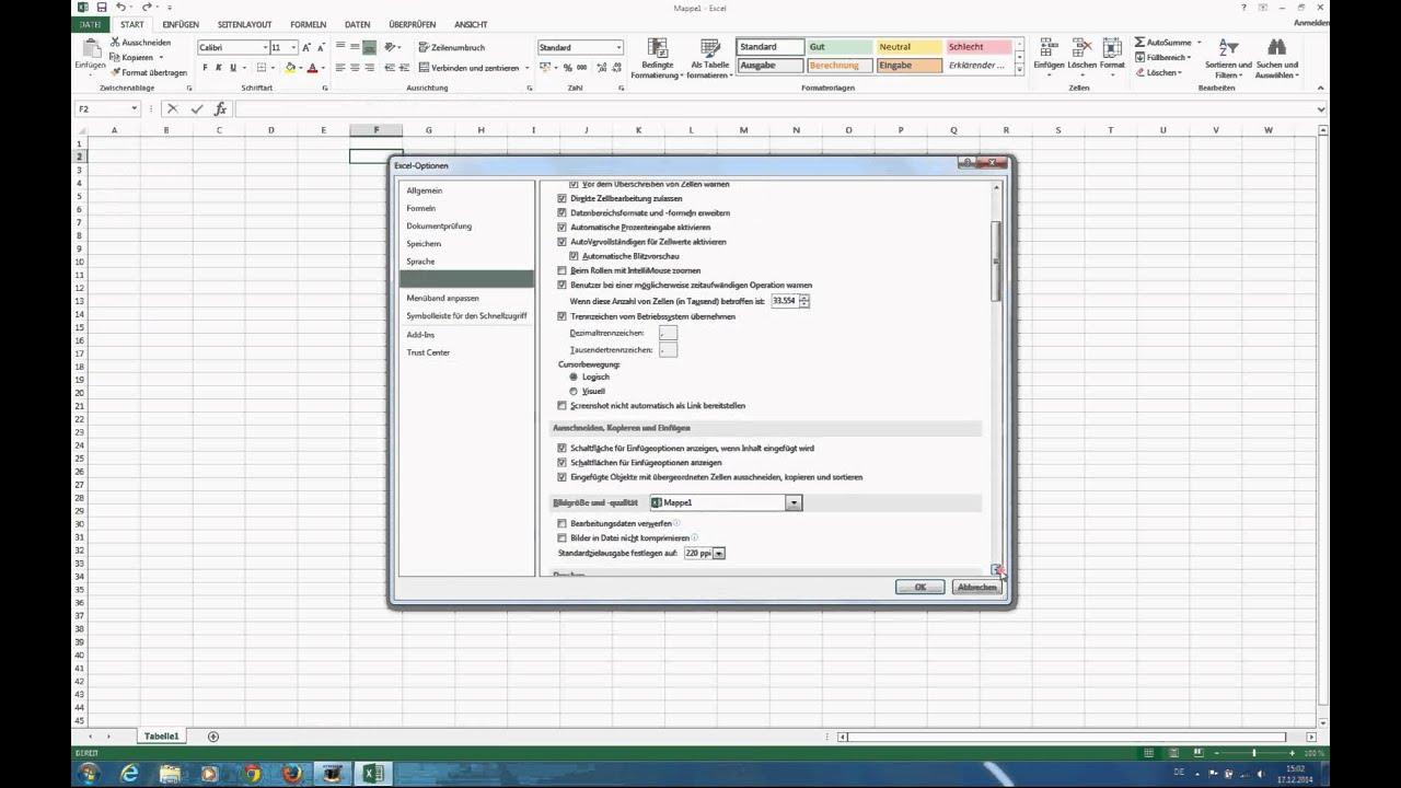 Excel Tabelleninhalt wird nicht angezeigt - YouTube