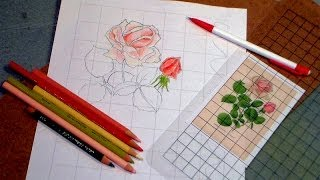 How to size up a drawing with a DIY grid