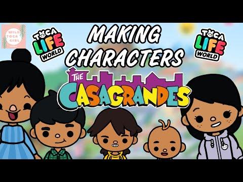 THE CASAGRANDES CHARACTERS IN TOCA LIFE! 😄 TOCA BOCA 🌎