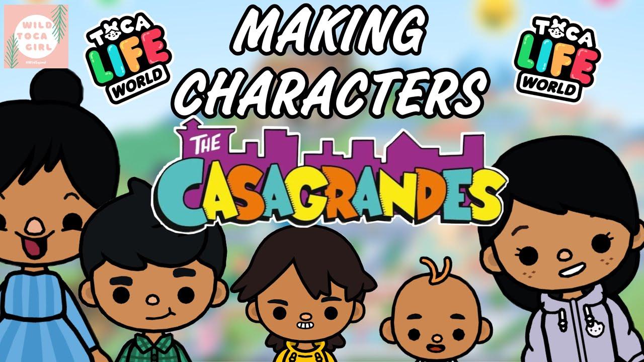 Download THE CASAGRANDES CHARACTERS IN TOCA LIFE! 😄 TOCA BOCA 🌎