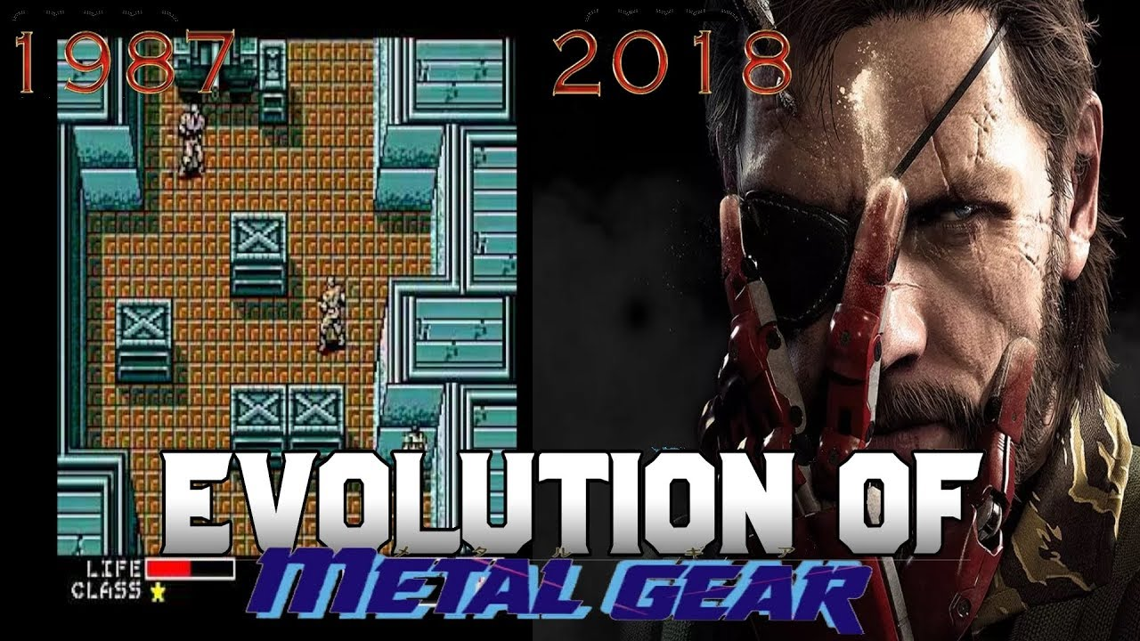 Graphical Evolution of Metal Gear (1987-2018)