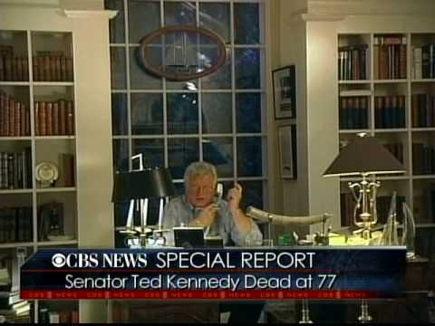 The Death Of Senator Ted Kennedy Announcement CBS  Special Report