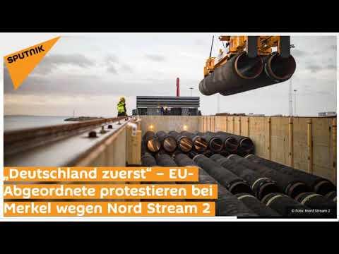 EU-Abgeordnete protestieren bei Merkel wegen Nord Stream 2 (Sputniknews)