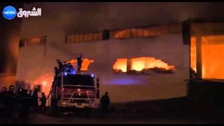 """باتنة: حريق مهول في مستودع وحدة تحويل الفواكه """"نقاوس للمصبرات"""""""