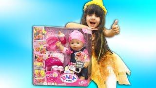 Лялька БЕБІ БОН - Розпакування Огляд! Як МАМА. Відео для дівчаток. Doll BABY BORN - Unboxing & Review.